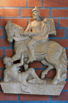 Martins-Relief in der St.-Martin-Kapelle in Escheburg  - Copyright: Manfred Maronde