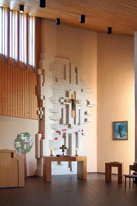 Der Altar der St.-Martin-Kapelle in Escheburg  - Copyright: Manfred Maronde
